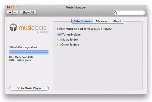 Google Music Beta : Application Mac OS