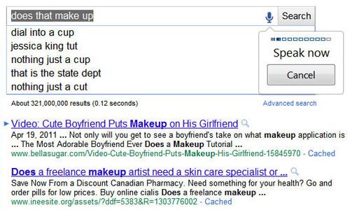 Google : Reconnaissance vocale lors de la recherche