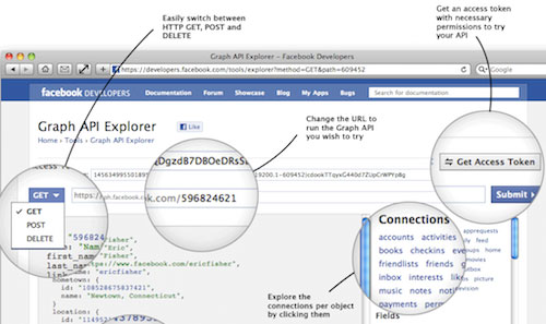 Facebook : Graph API Explorer