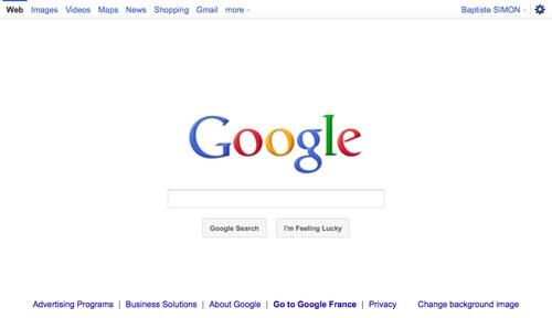 Google : Boutons et barre de navigation blanche