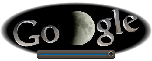Google : Doodle pour l'éclipse lunaire totale