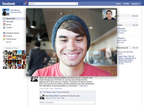 Facebook : Appel vidéo - Conversation