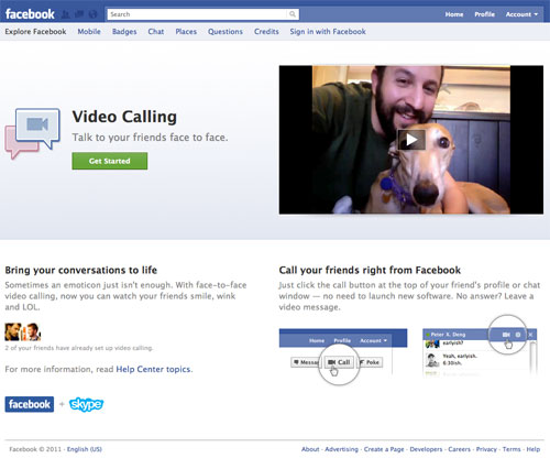 Facebook : Appel vidéo (Video Calling)