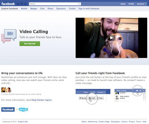 Facebook : Appel vidéo (Video Calling)