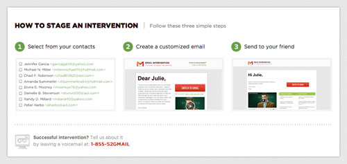 Gmail : Email intervention - Etapes