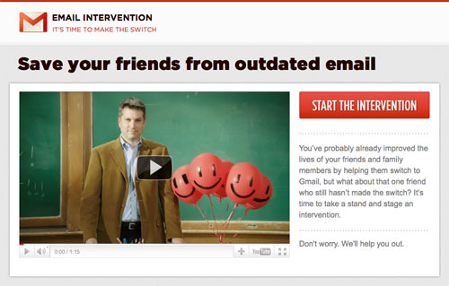 Gmail : Email intervention