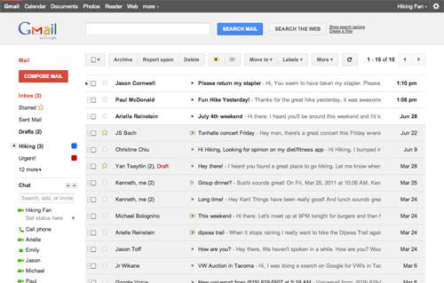 Gmail : Nouvelle interface utilisateur