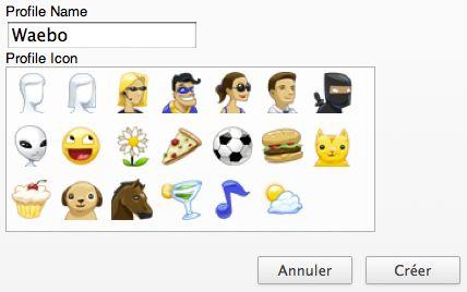 Google Chrome : Avatars des profils utilisateurs