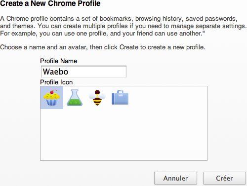 Google Chrome : Gestion des profils utilisateurs