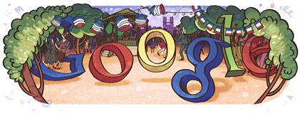Google : Doodle de la fête nationale française du 14 juillet