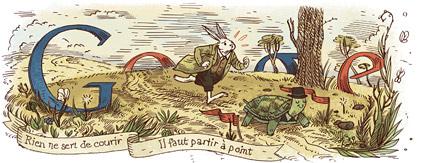 Google Doodle : Jean  de La Fontaine