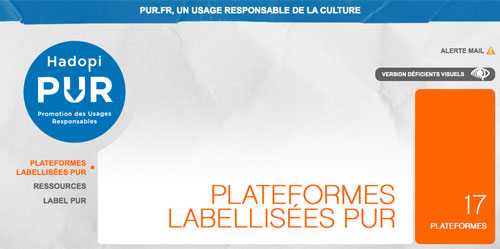 Hadopi : Label PUR