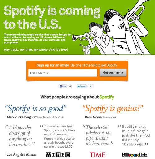 Spotify aux Etats-unis