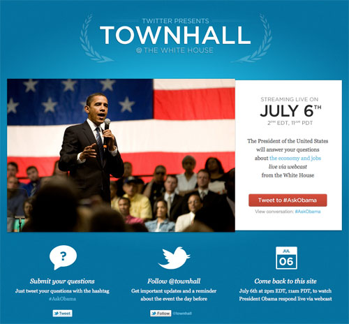 Twitter : Townhall @ The White House