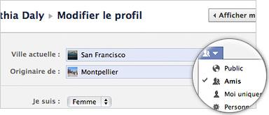 Facebook : Contrôles de confidentialité