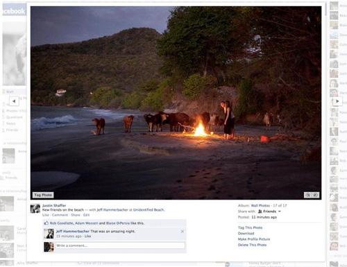 Facebook : Diaporama photos