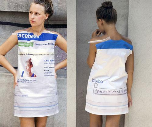 Profil Facebook en robe