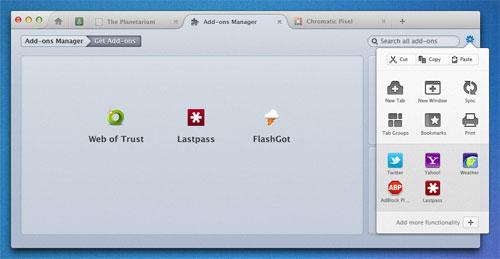 Firefox Australis Mac AddOns