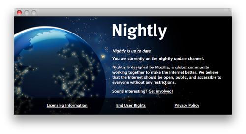 Firefox : Numéro de version supprimé