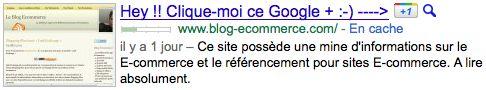 Google+1 : Titre de page incitant au vote
