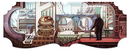 Doodle Google : Jorge Luis Borges