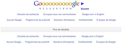 Google : Paginations