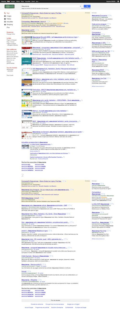 Google : SERP unique et annonces AdWords