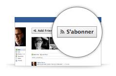 Facebook : Bouton s'abonner sur le profil