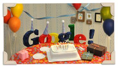 Google : Doodle du 13ème anniversaire