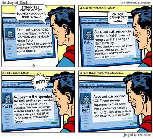 Google Plus : Superman