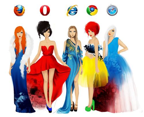 Navigateurs internet en femmes