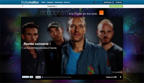Dailymotion : Concert de Coldplay à la Cigale