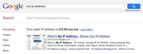 Google : Adresse IP