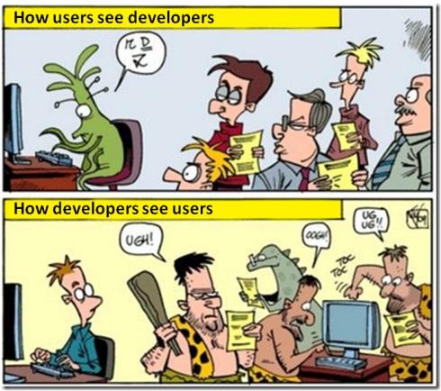 Développeurs vs Utilisateurs