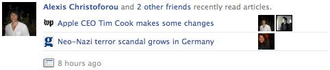 Facebook : Lire les informations