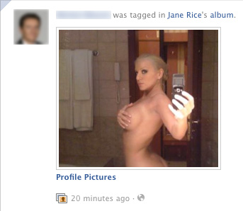 Facebook : Spam porno