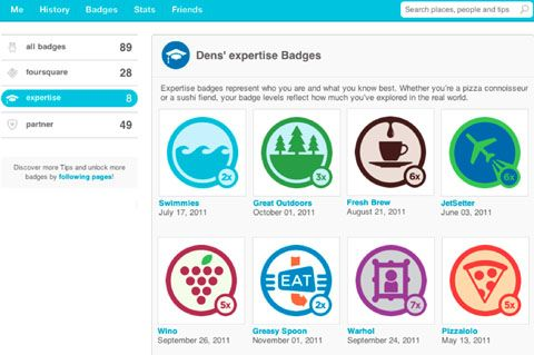 Foursquare : Badge à level