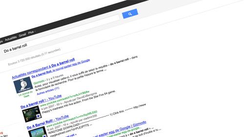 Google : Do a barrel roll