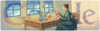 Google : Doodle Marie Curie