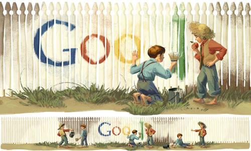 Google : Doodle Mark Twain