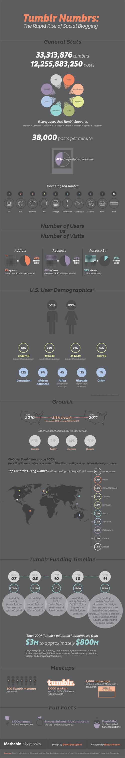 Tumblr : Chiffres clés en infographie