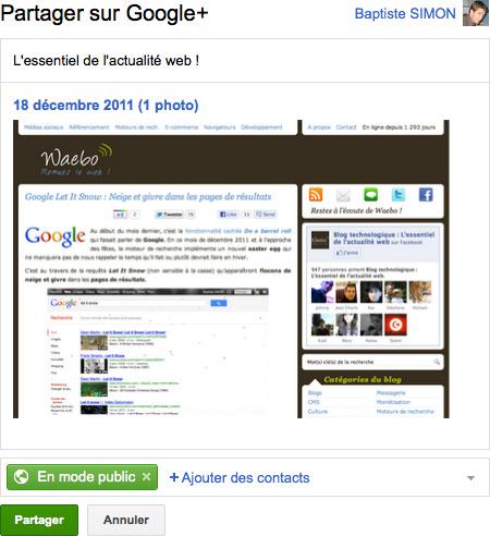 Gmail : Partage de pieèces jointes sur Google+