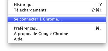 Google Chrome : Synchronisation du profil - Se connecter
