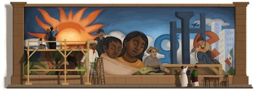 Google : Doodle Diego Rivera - Fresque murale