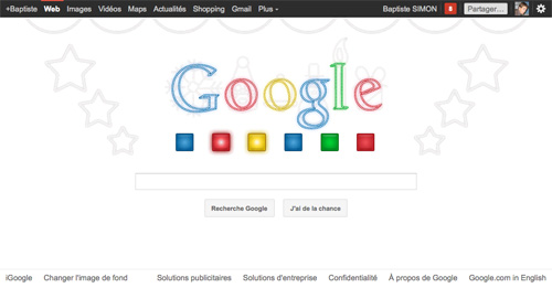 Google : Doodle Jingle Bells (blanc)