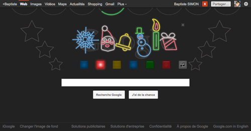 Google : Doodle Jingle Bells (noir)