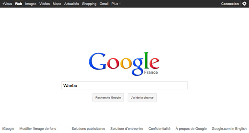Google : Logo au centre