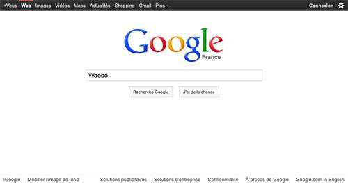Google : Logo en haut