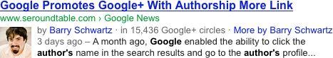 Google : Snippet auteur
