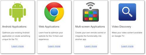 Google TV : Site pour développeurs